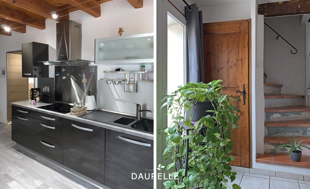 Maison de village avec cour, terrasse et garage à Eyragues